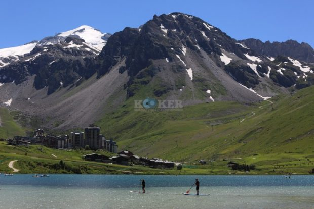View from the resort city of la Plagne, in the French ski area of the Alps. July 26, 2016. Photo by Yaakov Naumi/FLASH90 *** Local Caption *** ???? ?????? ????? ???? ?????? ??? ??? ??????. ??-????, ???? ??????