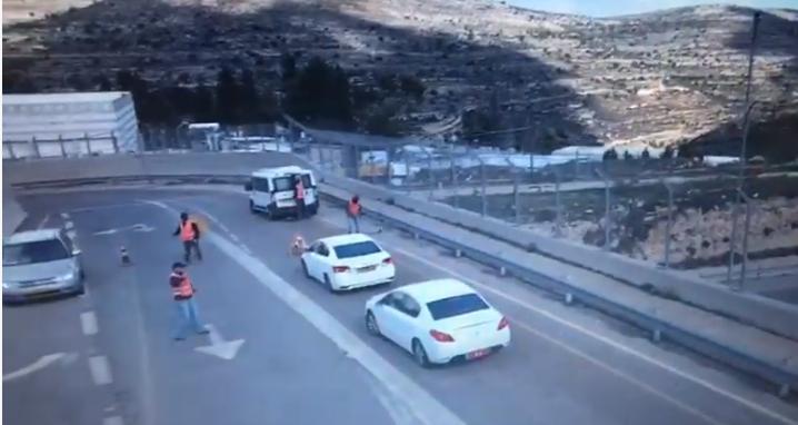 בית חורון: תיעוד מרתק: פעולת מסתערבים בגשר בית חורון מעל כביש 443